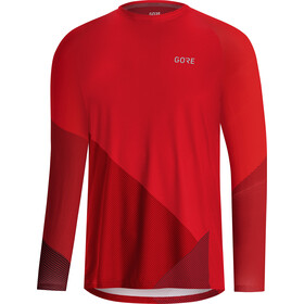 GORE WEAR C5 Trail Maillot Manga Larga Hombre, red